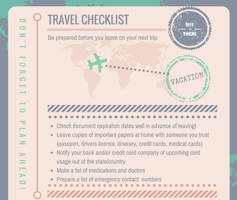 Prepared for Travel – Create a Travel Checklist